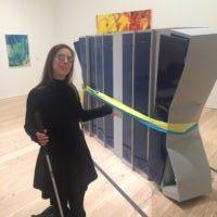 Godin presents crushed lockers at the Whitney Museum