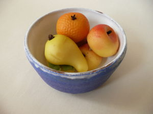 Fruit shaped marzipan.