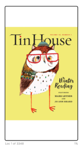 Tin House cover.