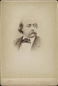 Gustave Flaubert photographic portrait by Nadar.